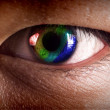 Rainbow eye — Stock Photo