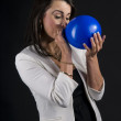 Blue balloon — Stock Photo