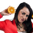 Stock Photo: Woman with an orange