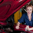 Smiling mechanic — Stockfoto
