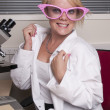 Stock Photo: Sweet researcher