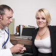 Stock Photo: Crazy GP and patient