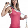 Woman with skipping rope — Stock Photo