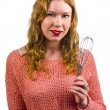 Stock Photo: Goldie locks with whisk