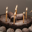 Royalty-Free Stock Photo: Light birthday candles