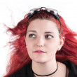 Stock Photo: Goggle redhead