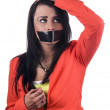 Stock Photo: Silenced woman