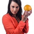 Stock Photo: Promoting orange