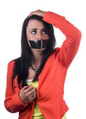 Silenced woman — Foto de Stock