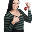 Loving tamarillo — Stock Photo