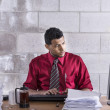 Basement office — Stock Photo