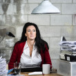 Стоковое фото: Contemplating business woman