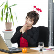 Mature businesswoman ready for Christmas — Stock Photo