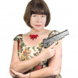 Stock Photo: Dangerous granny