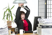 Killing the computer — Stock Photo