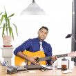 Music in the office — Foto Stock
