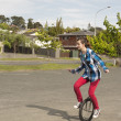 Happy unicyclist — Stock Photo #33208109