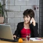 Calling mature businesswoman — Stock Photo #33251741