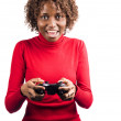 Stock Photo: Gaming Africgirl