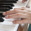 Playing piano — Foto de Stock