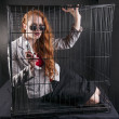 Stock Photo: Caged away