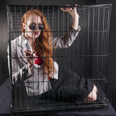 Caged away — Stock Photo