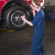Switching a tyre — Stock Photo