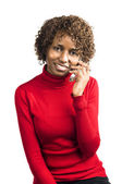 Cheerful caller — Stock Photo