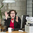 Shocked businesswoman — Stockfoto