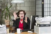 Shocked businesswoman — Stock Photo