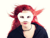 Masked girl — Stock Photo