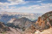 Vista dal beartooth tutto americano strada panoramica — Foto Stock