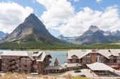 Veel gletsjers hotel in glacier national park — Stockfoto