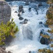 Yellowstone Firehole River Cascade — Stock Photo