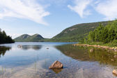 Jordan Pond and the Bubbles — Stock Photo