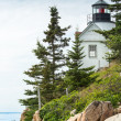 Stock Photo: Bass Harbor Light Station Overlooking Bay