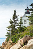 Bass Harbor Light Station Overlooking the Bay — Stock Photo