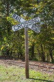 Large Railroad Crossing Sign — Stock Photo
