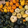 Close up of pumpkins and vegetables — Stock Photo