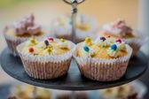 Torta y cupcakes — Foto de Stock