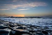 以上荷兰海滩日落 — 图库照片