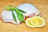 Patas de pollo crudo — Foto de Stock