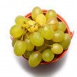Stock Photo: Grapes in little bucket