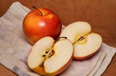 Ripe red apples — Stock Photo