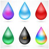 Set of drops — Stock Vector