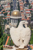 An eagle statue in the Bahai garden in Haifa, Israel — Photo