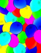 Orange balloons isolated on White — Stock Photo