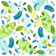 Royalty-Free Stock Vector Image: Vector background with birds and foliage.