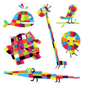 Vector illustration. Animals — Stock Vector