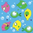 Royalty-Free Stock Vector Image: Vector background. Fish.